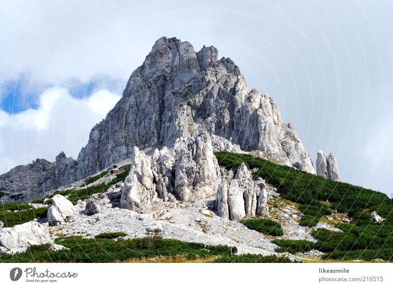 Ein Tag in den Bergen Himmel Natur grün Pflanze Ferien & Urlaub & Reisen Wolken Freiheit Berge u. Gebirge Landschaft Umwelt Stein Ausflug Felsen Tourismus natürlich Alpen
