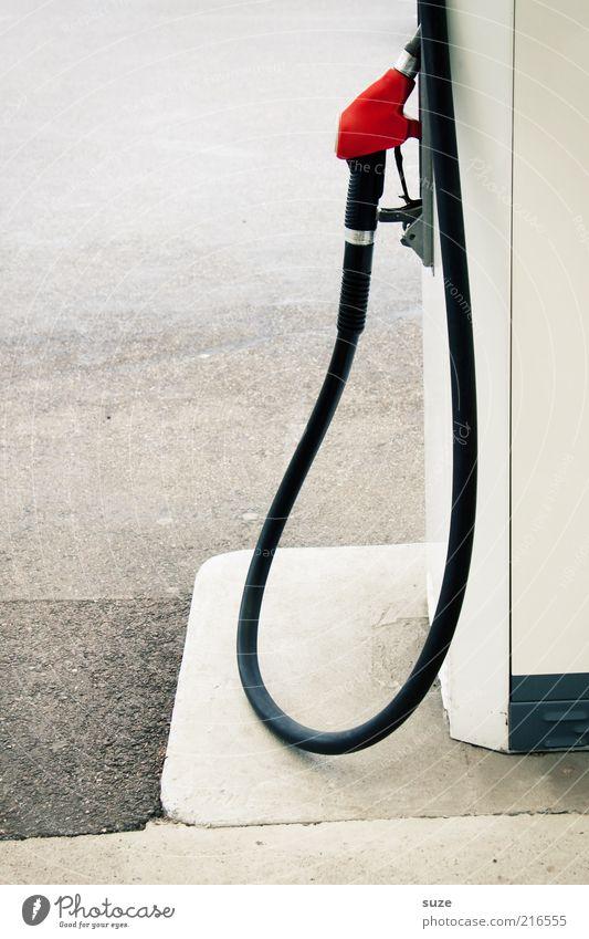 Tankstopp Dienstleistungsgewerbe Umwelt Benzin tanken Zapfsäule Tankstelle Diesel Biodiesel Erdgas Gas Schlauch teuer Farbfoto Gedeckte Farben Außenaufnahme