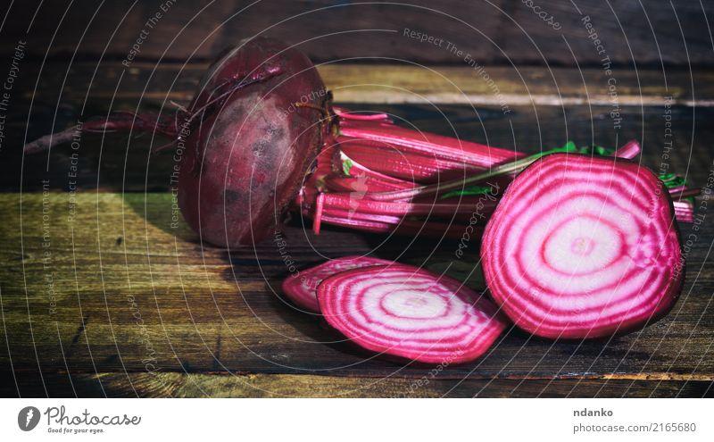 Frische rote Rübe Natur Pflanze Farbe Blatt Essen natürlich Holz braun Ernährung frisch Gemüse Ernte Vegetarische Ernährung Diät Vitamin