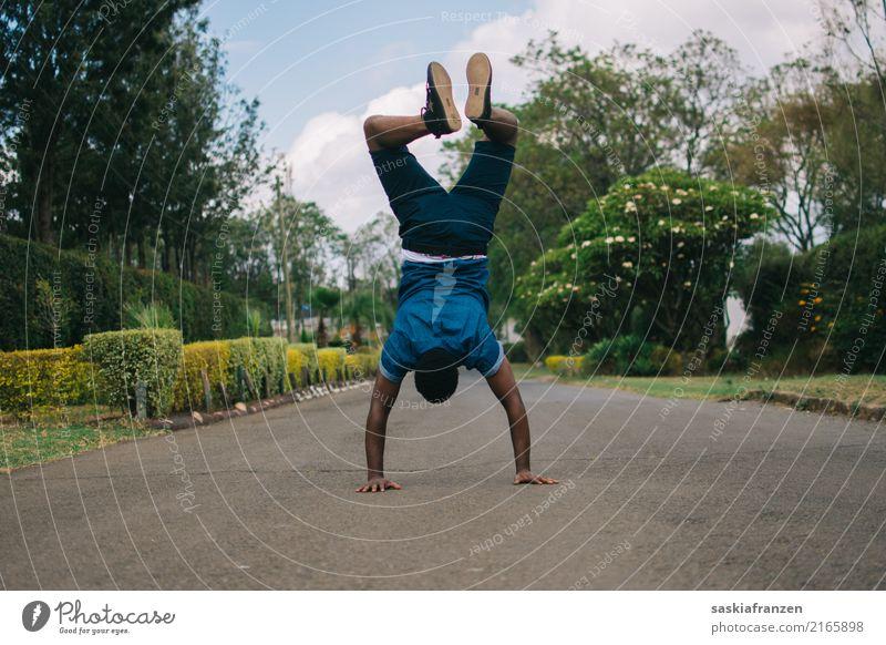 Bruder II. Lifestyle Sport Fitness Sport-Training Mensch maskulin Junger Mann Jugendliche Erwachsene Familie & Verwandtschaft Leben Körper 1 18-30 Jahre Straße