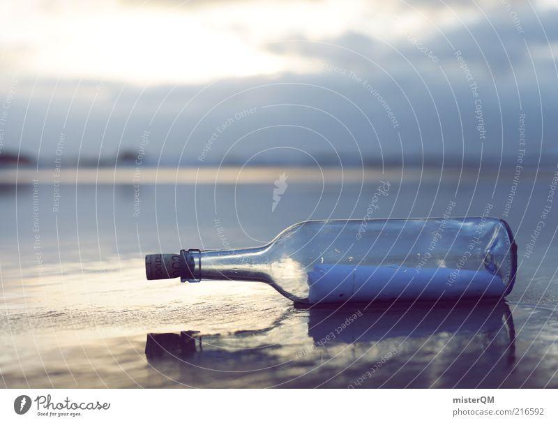 From the Past. Meer Ferne Küste Abenteuer ästhetisch Kommunizieren Kitsch Information Religion & Glaube geheimnisvoll Vergangenheit Flasche Unschärfe Post
