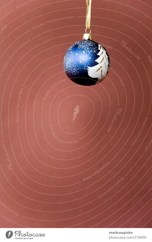 christbaum kugel blau Weihnachten & Advent Feste & Feiern braun Dekoration & Verzierung einzeln Christbaumkugel festlich Weihnachtsdekoration Kunsthandwerk