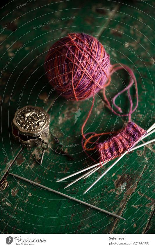 against cold feet Erholung ruhig Wärme rosa Freizeit & Hobby weich Meditation Sinnesorgane Wolle Handarbeit stricken Wollknäuel Stricknadel