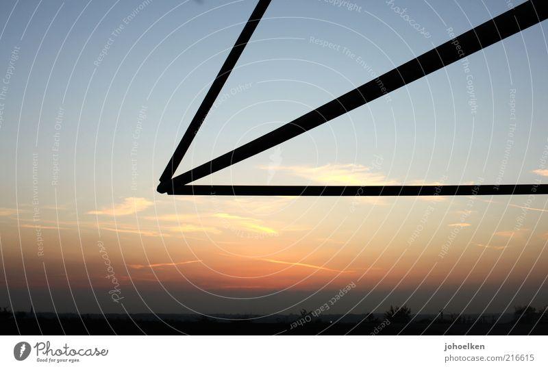 Triangel Tourismus Sightseeing Kunst Kultur Himmel Wolken Horizont Sonnenaufgang Sonnenuntergang Bottrop Ruhrgebiet Halde Halde Haniel Architektur