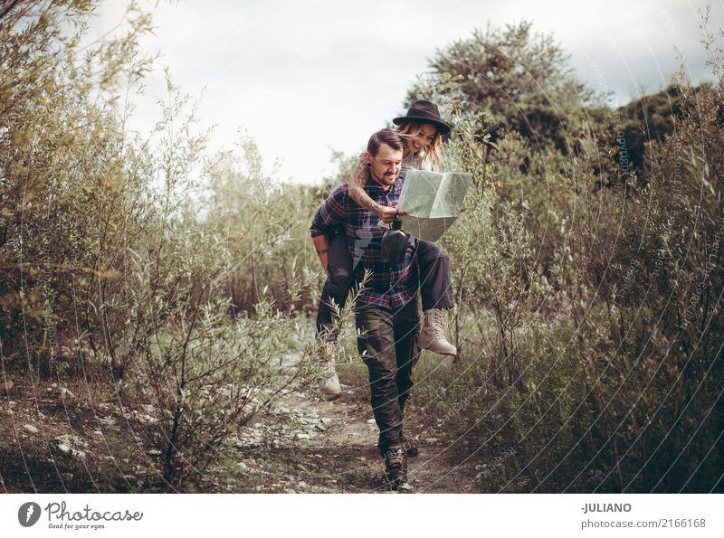 Kind Mensch Natur Ferien & Urlaub & Reisen Jugendliche Freude Ferne Umwelt Lifestyle Liebe Tourismus Freiheit Paar Ausflug wandern 13-18 Jahre