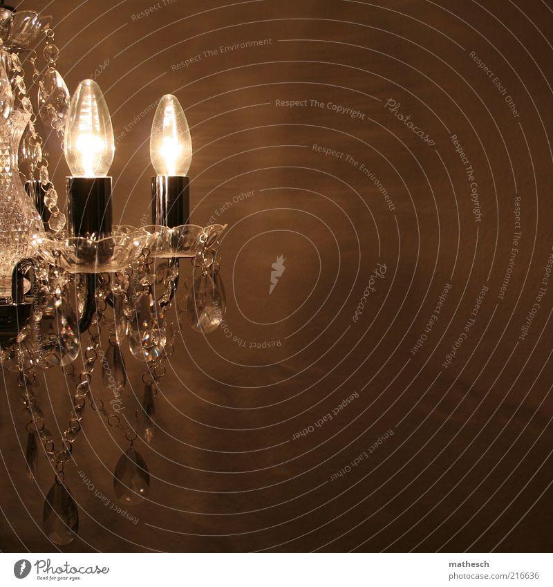 krone Lifestyle Reichtum elegant Häusliches Leben Wohnung einrichten Innenarchitektur Dekoration & Verzierung Lampe Kerze Glas hell silber ästhetisch Dekadenz