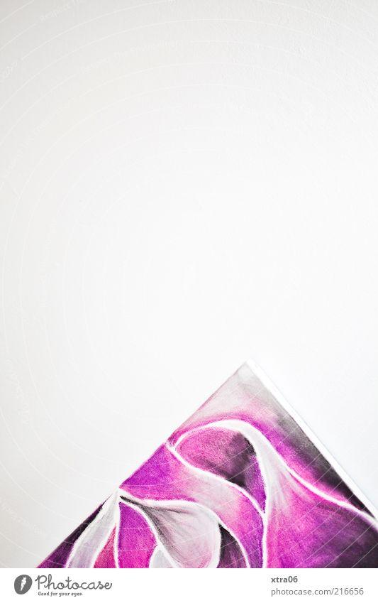 300 - und noch platz für meeehr :) Wand Kunst rosa Ecke violett Spitze Gemälde diagonal Ausstellung Anschnitt Bildausschnitt Kunstwerk Bild-im-Bild