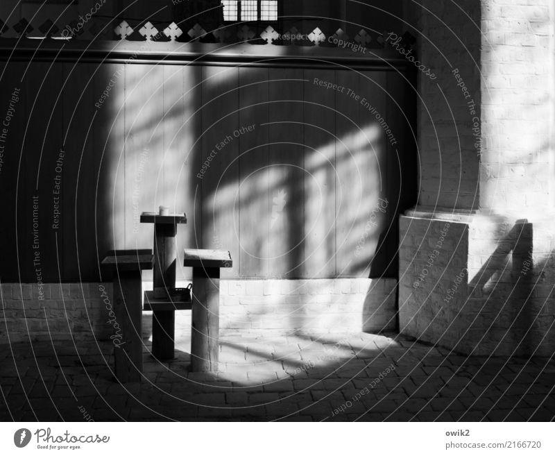 Hinter dem Altar ruhig Religion & Glaube Wand Traurigkeit Holz Mauer Stein Deutschland nachdenklich Kirche Vergänglichkeit einfach historisch Vergangenheit