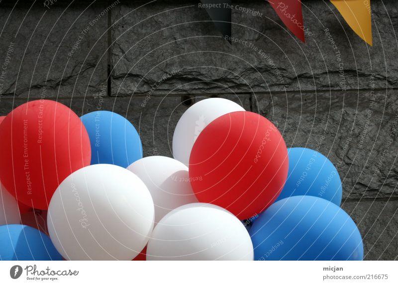 Well |You know weiß blau rot schwarz Mauer Luft Feste & Feiern Deutschland gold Macht Luftballon USA Fahne Frieden Deutsche Flagge Gesellschaft (Soziologie)