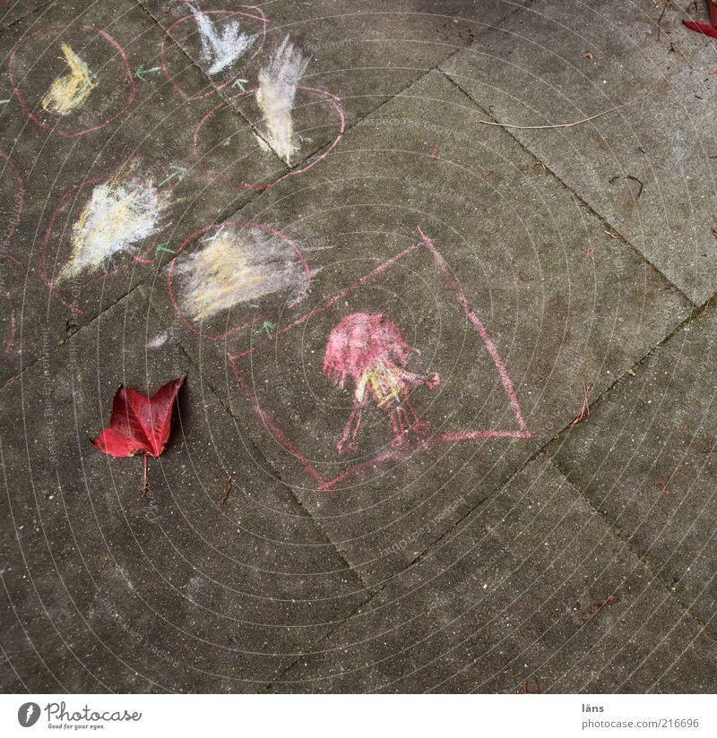[HH10.1] - und was spielt ihr Wege & Pfade Beton Zeichen authentisch Kreide Zeichnung Kinderspiel Blatt Spielen Farbfoto Außenaufnahme Menschenleer