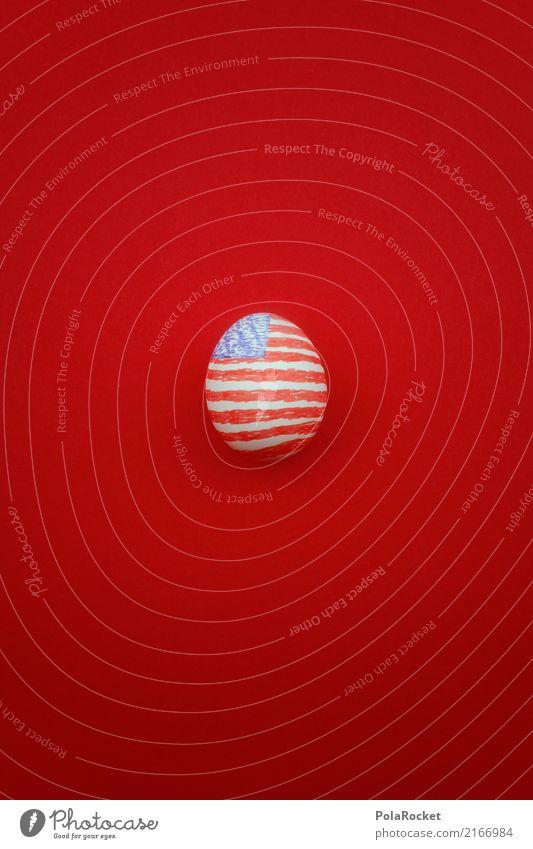 #A# U.S.EI. Kunst Kunstwerk ästhetisch Ei einzigartig Eierschale USA Stars and Stripes US-Armee Trump Fahne Symbole & Metaphern Kreativität rot blau US-Wahl
