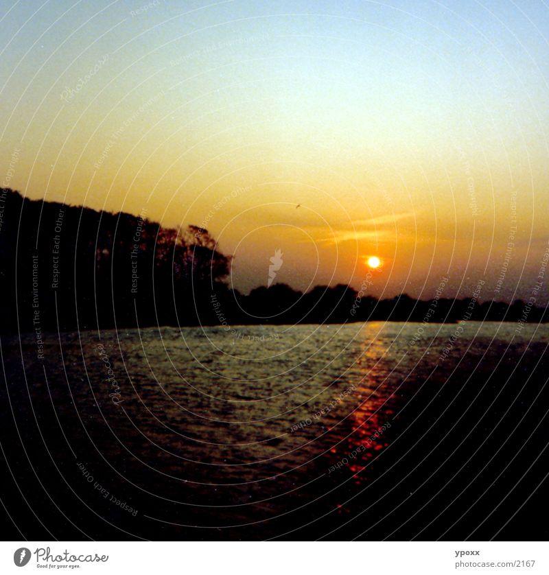 Sonnenuntergang Dämmerung dunkel Abend