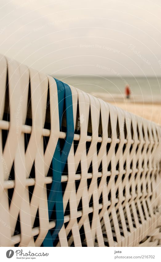 heute mal meer Mensch Natur Wasser Meer Strand Ferien & Urlaub & Reisen ruhig Einsamkeit Ferne Erholung Landschaft gehen Horizont Spaziergang Freizeit & Hobby
