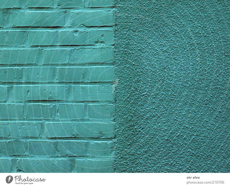 grüne Wände Haus Architektur Mauer Wand Fassade Putzfassade Sandstein Mauerstein Stein Arbeit & Erwerbstätigkeit bauen eckig hässlich verrückt schön Sanieren