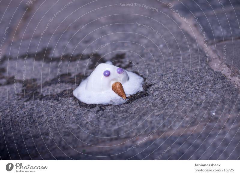 Winter, ade! Tod Gefühle Traurigkeit Stimmung lustig Speiseeis Trauer süß kaputt Vergänglichkeit Flüssigkeit Schmerz Kreativität Süßwaren Dessert