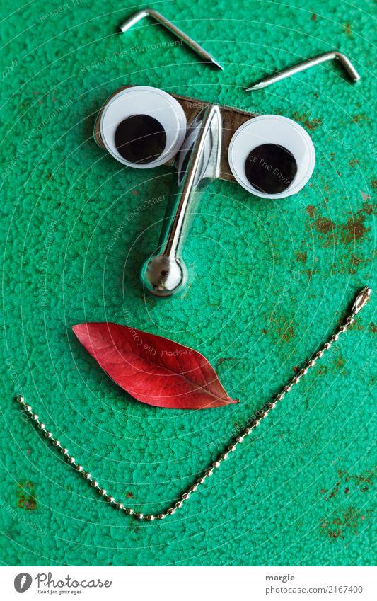 Emotionen...coole Gesichter: Hakennase Mensch grün rot feminin maskulin