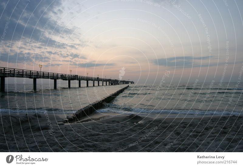 100 Wasser Meer Strand Ferien & Urlaub & Reisen Wolken Einsamkeit Ferne Freiheit Sand Landschaft Wellen rosa Umwelt Zeit Horizont Tourismus