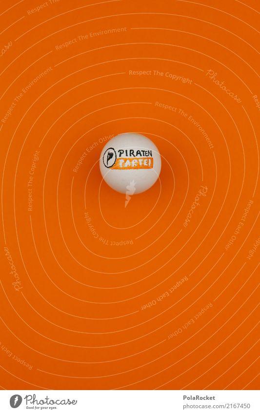 #A# Piraten-Ei Kunst ästhetisch Parteien Wahlen wählen Wahlkampf Orange Minderheit Farbfoto mehrfarbig Innenaufnahme Studioaufnahme Nahaufnahme Detailaufnahme