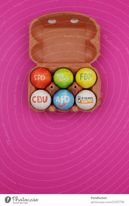 #A# Wahlkampf Kunst ästhetisch Ei Eierschale Eierkarton SPD CDU afd Bündnis 90 FDP die piraten Wahlen wählen Farbfoto mehrfarbig Innenaufnahme Studioaufnahme