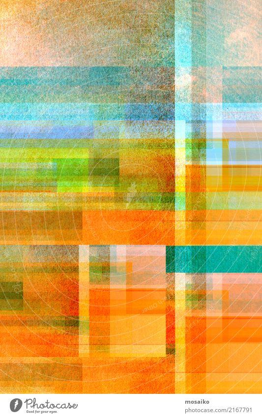geometrisches Farbspiel blau Freude gelb Lifestyle Hintergrundbild Stil Kunst orange Design retro elegant gold ästhetisch Kreativität Fröhlichkeit Kultur