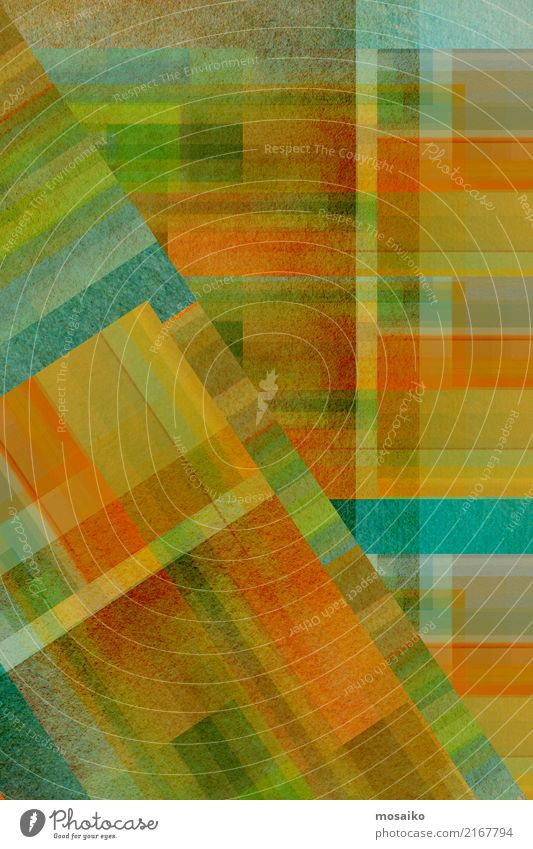 geometrisches Farbspiel blau grün Freude gelb Lifestyle Hintergrundbild Stil Kunst außergewöhnlich grau braun orange Design retro elegant gold