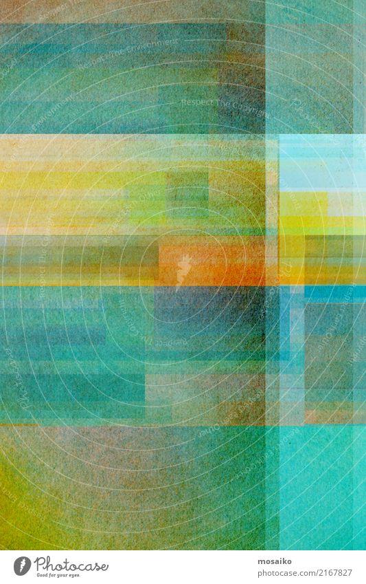 geometrisches Farbspiel Lifestyle elegant Stil Design Freude Kunst Kunstwerk ästhetisch authentisch außergewöhnlich fantastisch Originalität blau mehrfarbig