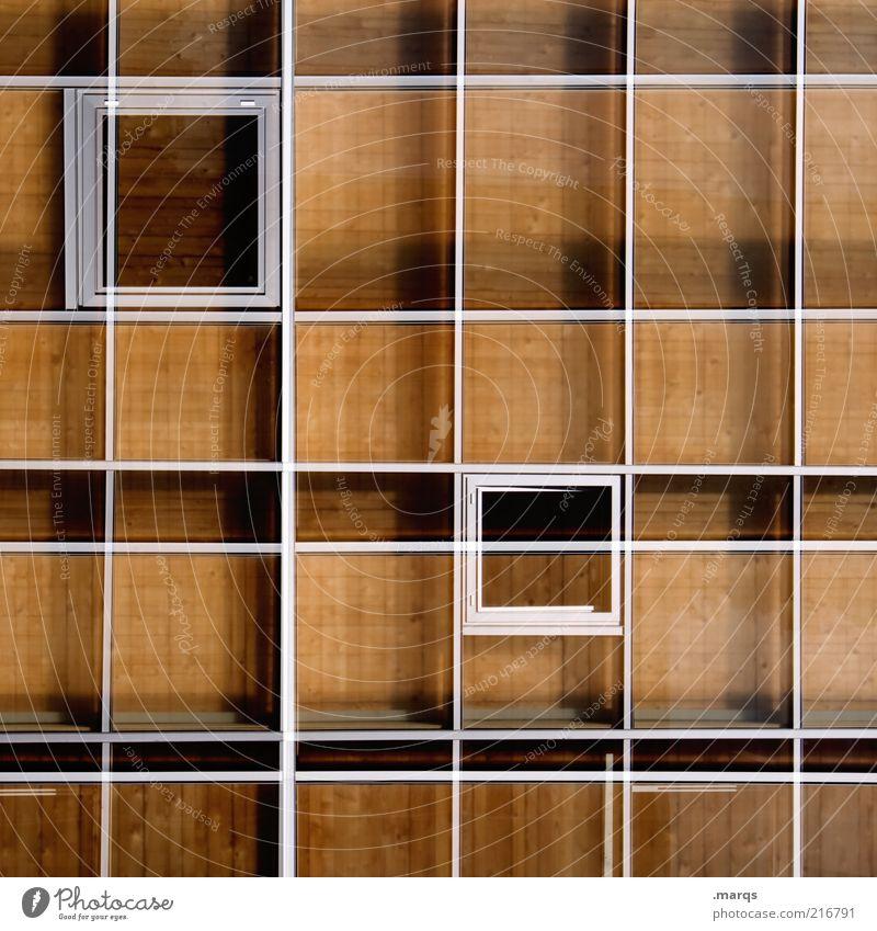 Setzkasten Stil Design Fassade Holz Metall Linie außergewöhnlich skurril Raster Fenster Doppelbelichtung Farbfoto Muster Strukturen & Formen Geometrie Symmetrie