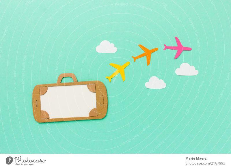 Mobile Urlaubsplanung Ferien & Urlaub & Reisen Sommer Wolken fliegen modern Abenteuer kaufen Flugzeug trendy Handy Mobilität Vorfreude PDA Reisebüro