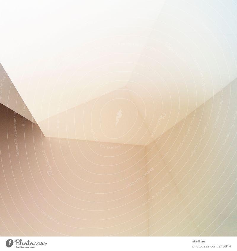 Kubismus, rosa Phase weiß Haus Linie hell Raum rosa modern Ecke abstrakt Doppelbelichtung graphisch Muster