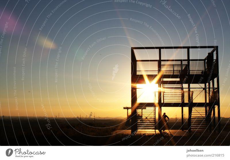 Schicht am Schacht IV Zeche Bergbau Industrie Mensch 1 Kultur Industriekultur Wolkenloser Himmel Horizont Sonnenaufgang Sonnenuntergang Ruhrgebiet Architektur