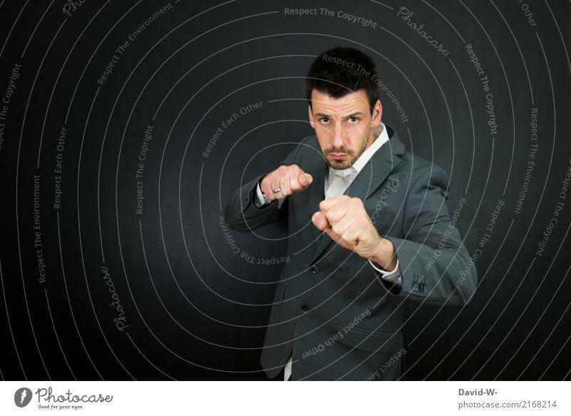 abwehren Mensch Jugendliche Mann Junger Mann Erwachsene Leben Lifestyle Stil Business Arbeit & Erwerbstätigkeit Freizeit & Hobby Angst maskulin Kraft Erfolg