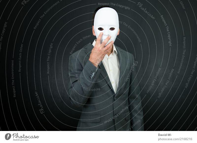 Mann mit Maske - anonym coronavirus verdeckt verstecken geheimnisvoll Anonymität versteckt Identität identitätlos identitätslos maskiert Maskenball Karneval