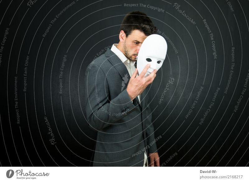 verstecken Mensch Mann Gesicht Erwachsene Leben maskulin elegant Kultur Maske Karneval Bühne Kino Karnevalskostüm Halloween Hülle