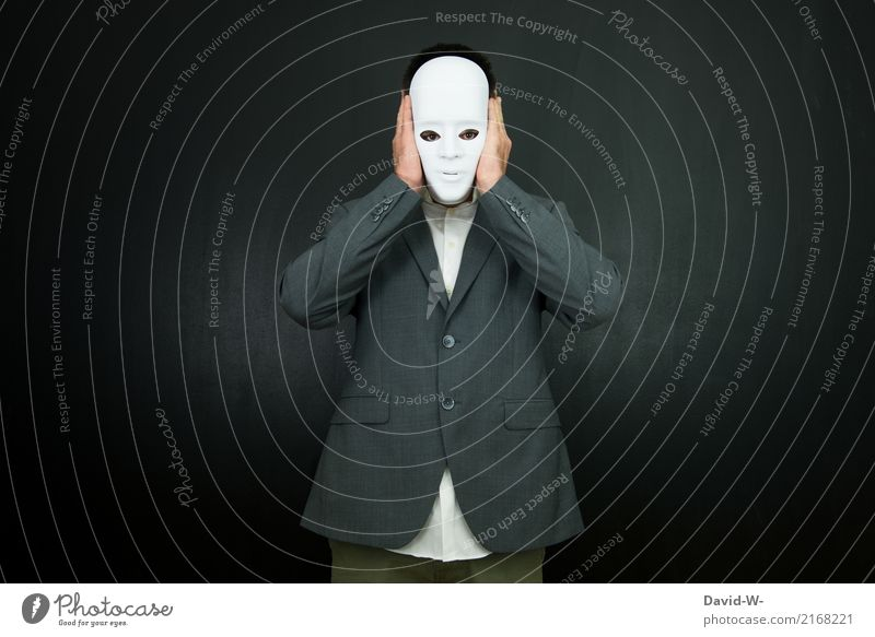 anonym Lifestyle Reichtum elegant Stil schön Karneval Halloween Mensch maskulin Mann Erwachsene Leben Gesicht 1 Kunst Schauspieler beobachten Kommunizieren