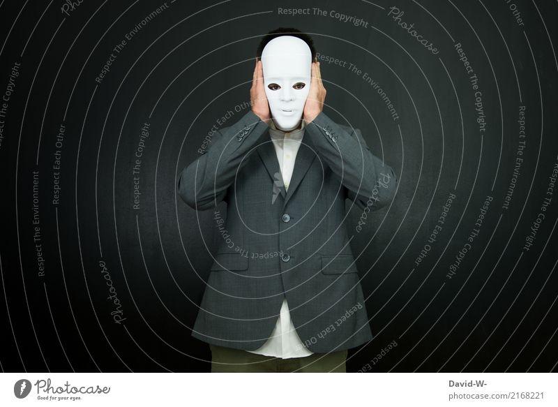 anonym Mensch Mann schön Gesicht Erwachsene Leben Lifestyle Stil Kunst maskulin elegant Kommunizieren beobachten geheimnisvoll ausdruckslos Krankheit