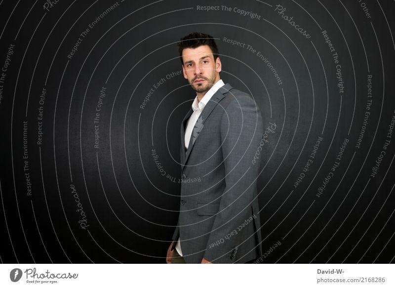 business ... Mensch Mann schön Junger Mann Erwachsene Leben Lifestyle Business Mode maskulin Erfolg Bildung Erwachsenenbildung Model Karriere Anzug