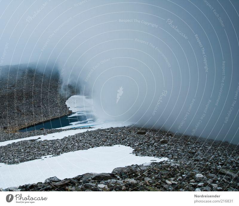 Mein Erstes 5:4 Format Natur Ferien & Urlaub & Reisen Schnee Berge u. Gebirge Umwelt Landschaft Wege & Pfade Stimmung See Eis Ausflug Nebel ästhetisch Klima gefährlich Frost