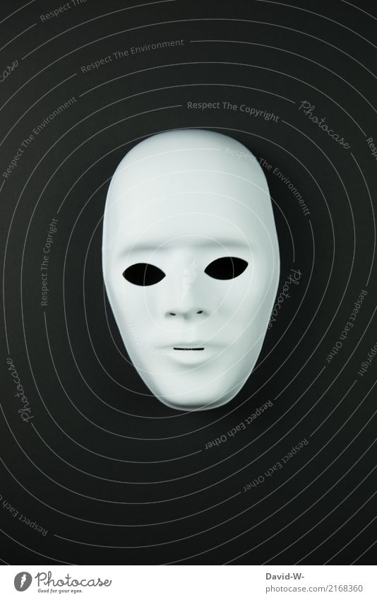 Maske schwarz Frau Mensch Mann weiß Gesicht Erwachsene Leben Kunst maskulin Kultur beobachten geheimnisvoll verstecken Theaterschauspiel