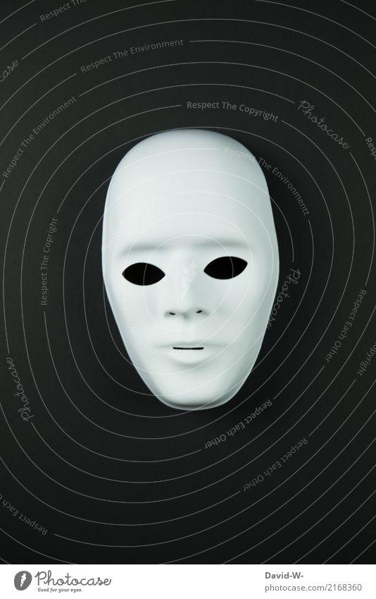 Maske schwarz Gesicht Halloween Mensch maskulin Frau Erwachsene Mann Leben 1 Kunst Künstler Kunstwerk Theaterschauspiel Bühne Schauspieler Tänzer Kultur