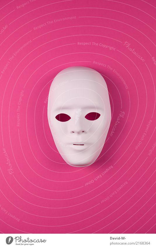 female anonym Frau Mensch Jugendliche Junge Frau Gesicht Erwachsene Leben feminin Kunst Kopf rosa beobachten Zeichen geheimnisvoll Maske verstecken