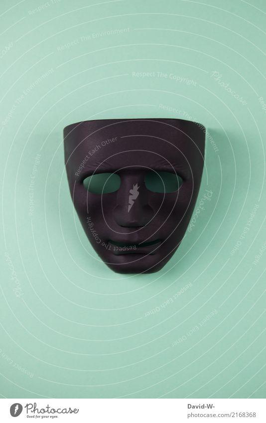 Maske schwarz Lifestyle Spielen Karneval Halloween Trauerfeier Beerdigung Mensch maskulin feminin Leben Kopf Gesicht 1 Kunst Künstler Ausstellung Museum