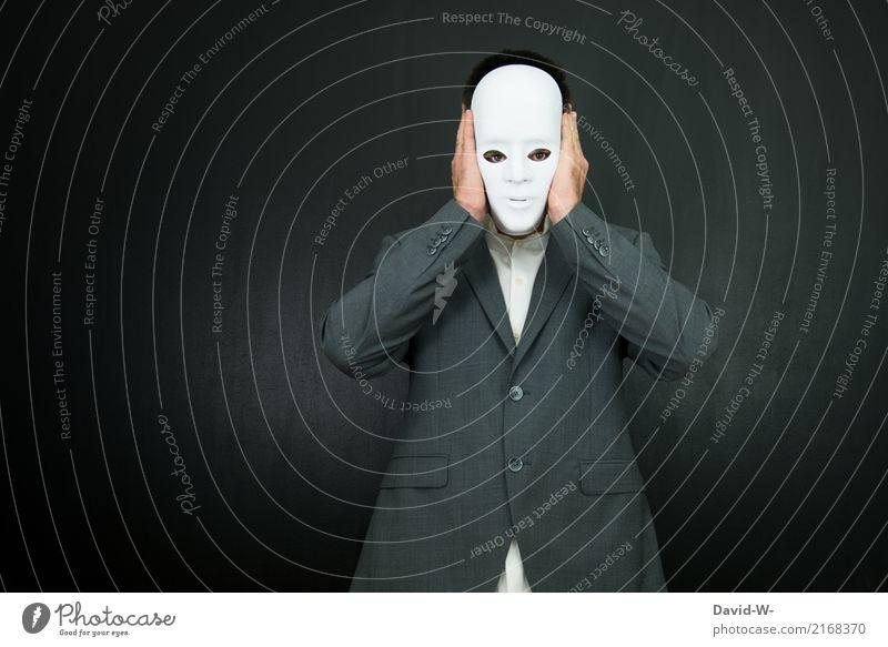 Verwandlung | anonym Mensch Jugendliche Mann Junger Mann weiß Hand Gesicht Lifestyle Erwachsene Leben Stil Kunst Kopf Design maskulin elegant
