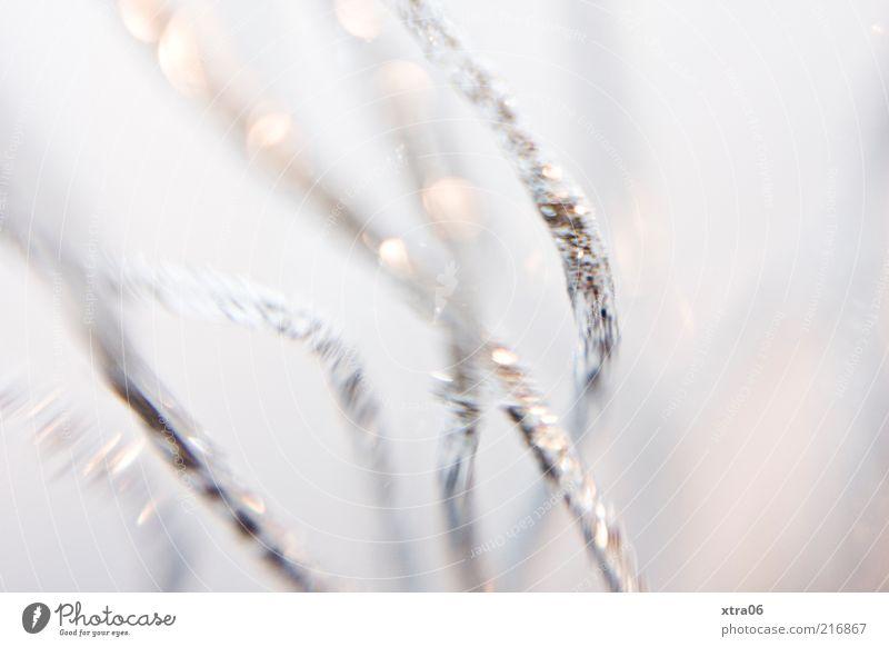 glitzer Dekoration & Verzierung silber Farbfoto Innenaufnahme Nahaufnahme Detailaufnahme Makroaufnahme Hintergrund neutral Menschenleer Schwache Tiefenschärfe