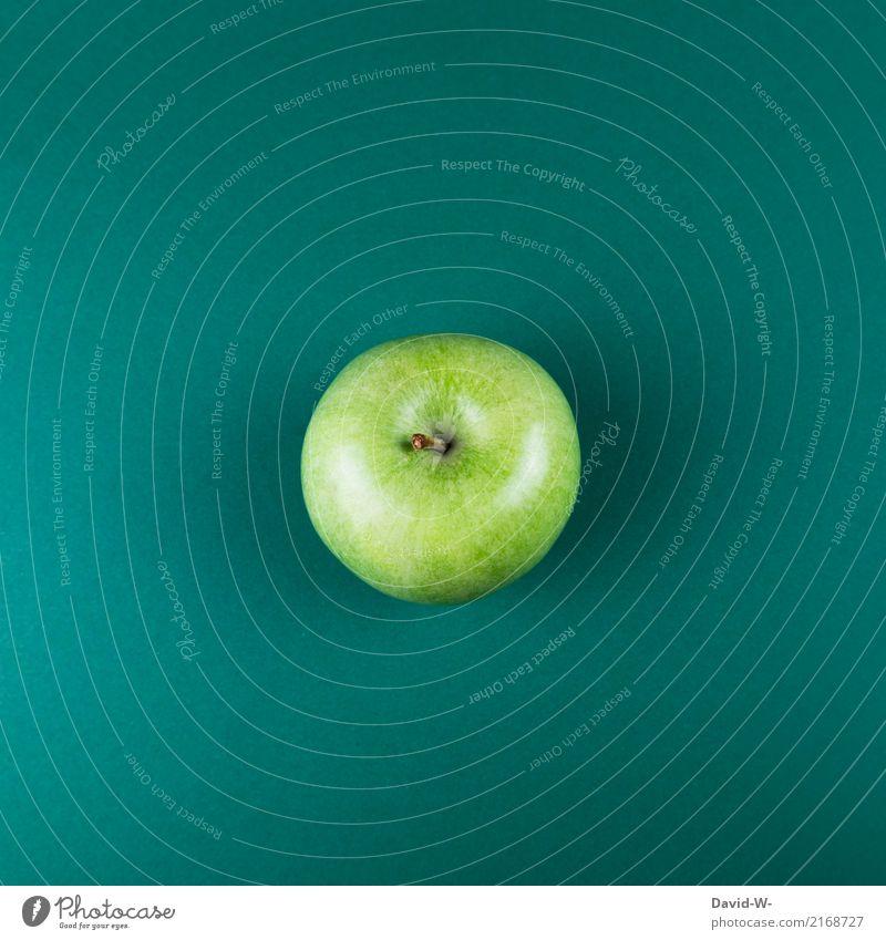 Apfel grün Lebensmittel Frucht Ernährung Bioprodukte Vegetarische Ernährung Diät Fasten schön Körper Kosmetik Gesundheit Gesundheitswesen Alternativmedizin