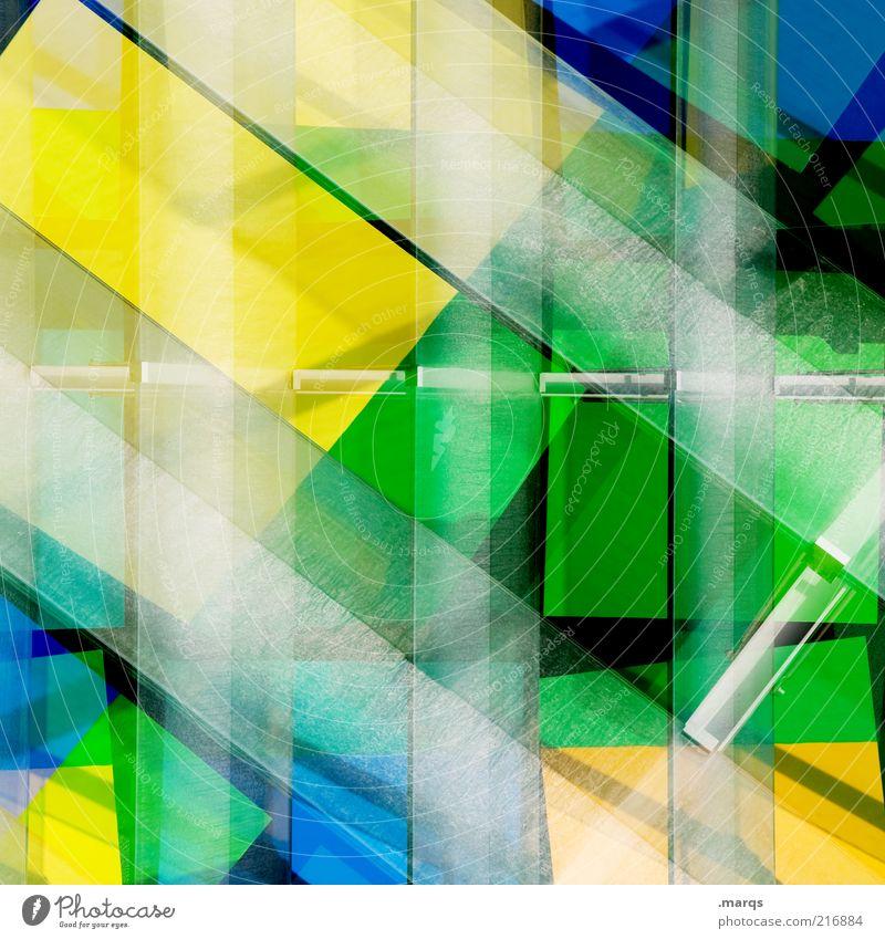 1000 Lifestyle Stil Design leuchten außergewöhnlich Coolness trendy einzigartig modern verrückt blau gelb grün chaotisch Farbe Perspektive skurril Surrealismus