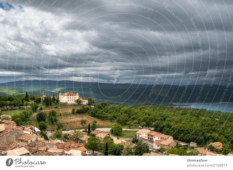 Lac de Sainte-Croix Himmel Ferien & Urlaub & Reisen Sommer Wasser Baum Landschaft Wolken Ferne Tourismus See Ausflug Regen Horizont wandern Erde Luft