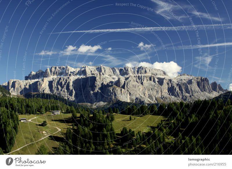 Sella Vie Himmel Natur Sommer Ferien & Urlaub & Reisen Wolken Ferne Freiheit Berge u. Gebirge Landschaft Umwelt Frühling Felsen frei Alpen Gipfel Tanne
