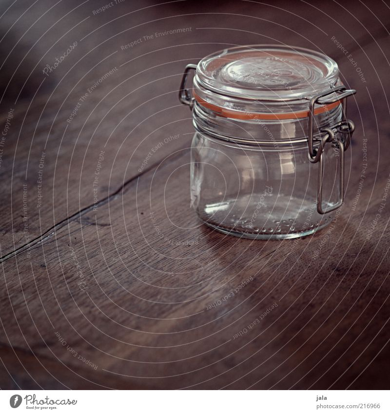 einmachglas Holz braun Glas leer Gummi Maserung Behälter u. Gefäße Einmachglas
