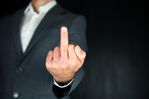 Mittelfinger Mensch Jugendliche Mann Hand Erwachsene Leben Stil Business maskulin elegant Finger Student Dienstleistungsgewerbe Konflikt & Streit Wort Anzug