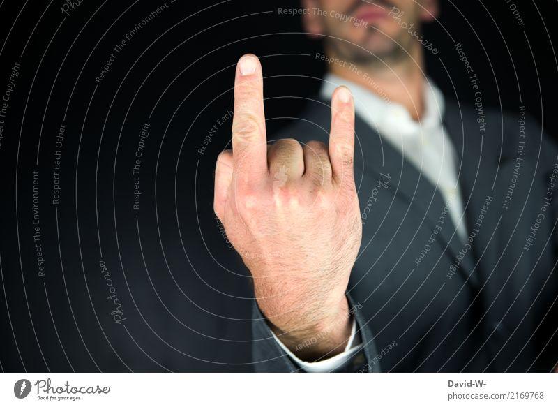 Rock N Roll Mensch Mann Hand Erwachsene Leben Lifestyle Business außergewöhnlich Party Feste & Feiern maskulin Musik Erfolg verrückt Kultur Finger